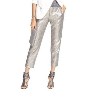 Chealsea28 silver sequin pants